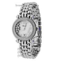 Chopard Happy Sport Medium Quartz Pave All Silver