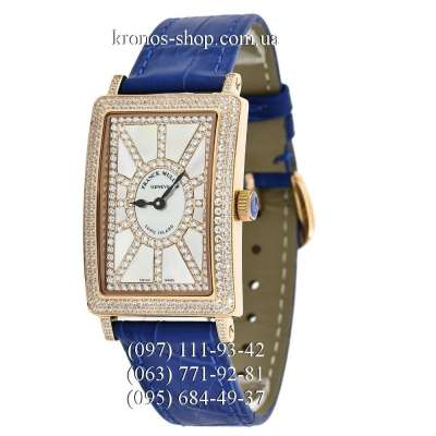 Franck Muller Long Island Diamonds Blue/Gold/White