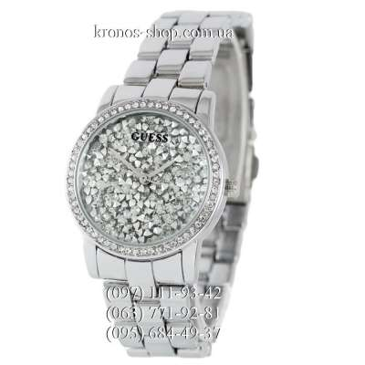 Guess Pave Dial All Silver