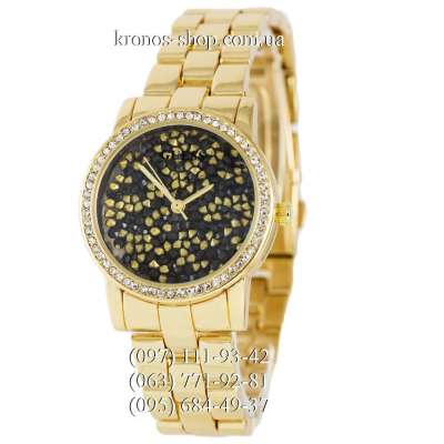 Guess Pave Dial Gold/Black-Gold