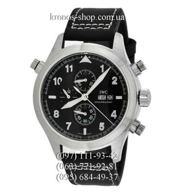 IWC Pillot`s Watches Spitfire Double Chronograph Black/Silver/Black