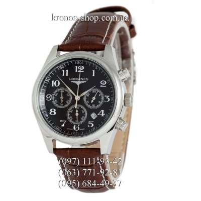 Longines Master Collection Chronograph Brown/Silver/Black