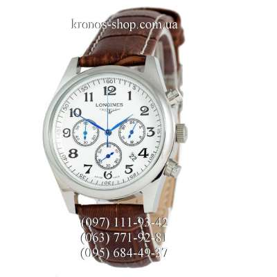 Longines Master Collection Chronograph Brown/Silver/White