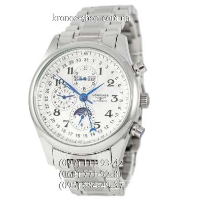 Longines Master Collection Moonphases Steel All Silver