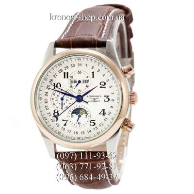 Longines Master Collection Moonphases Brown/Silver-Gold/White