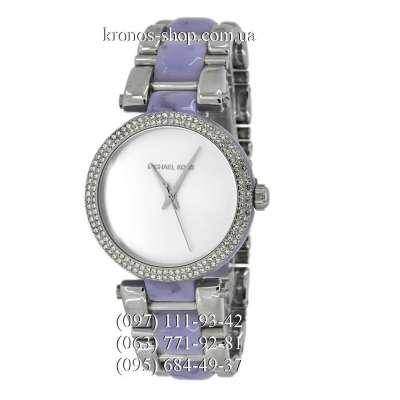 Michael Kors MK4321 Delray Silver-Purple/White