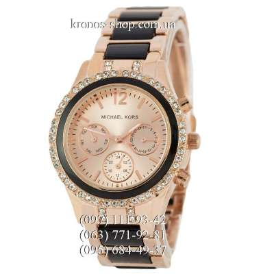 Michael Kors Day-Date Rose Gold-Black
