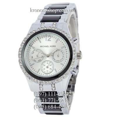 Michael Kors Day-Date Silver-Black/White