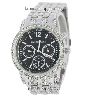 Michael Kors Day-Date Silver/Black