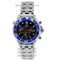 Omega Seamaster 300 M Diver Chronograph Silver/Black-Blue