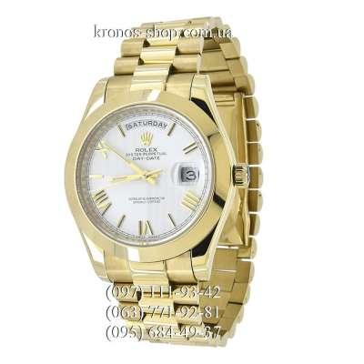 Rolex Day-Date Steel Rome Gold/White