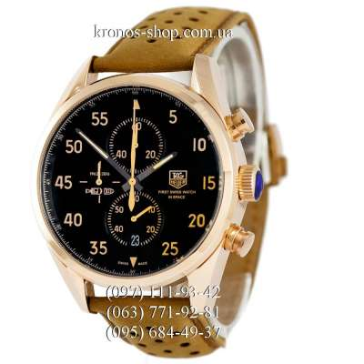 TAG Heuer Carrera 1887 SpaceX Chronograph Gold/Black-Yellow