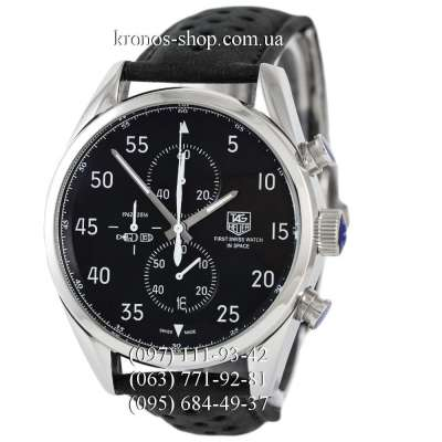TAG Heuer Carrera 1887 SpaceX Chronograph Silver/Black-white