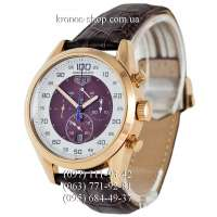 TAG Heuer Carrera Mikrograph Brown/Gold/White-Brown