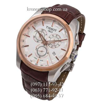 Tissot T-Classic Couturier Chronograph Brown/Silver-Gold/White