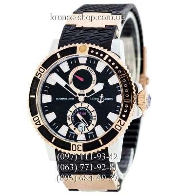 Ulysse Nardin Maxi Marine Diver Chronometer Black/Silver-Gold