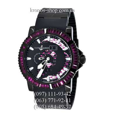 Ulysse Nardin Diver Marine Perpetual Red Spinel All Black/Purple