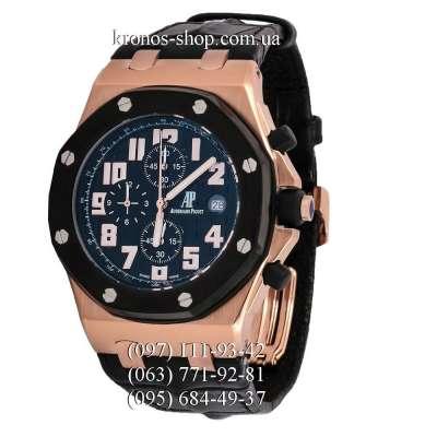 Audemars Piguet Royal Oak Offshore Chronograph Leather Black/Gold/Black