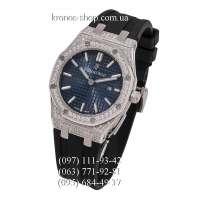 Audemars Piguet Royal Oak Quartz Lady Diamonds Rubber Black/Silver/Blue