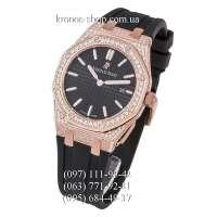 Audemars Piguet Royal Oak Quartz Lady Diamonds Rubber Black/Gold/Black
