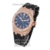 Audemars Piguet Royal Oak Quartz Lady Diamonds Rubber Black/Gold/Blue