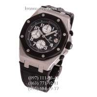 Audemars Piguet Royal Oak Offshore Chronograph Leather Black/Silver/Black-White