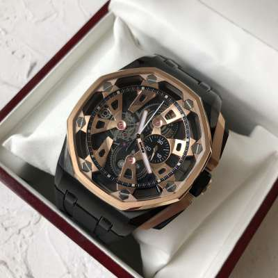 Audemars Piguet Royal Oak Offshore Tourbillon Chronograph 25th Anniversary Gold/Black-Black