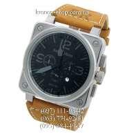 Bell & Ross Aviation BR Chronographe Brown/Silver/Dark Dials