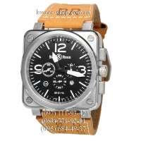 Bell & Ross Aviation BR Chronographe Brown/Silver/Black