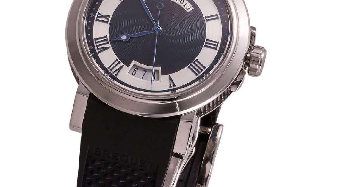 Часы Breguet Marine 5012 Black/Silver/White-Blue копия, купить в Украине, низкая цена реплики - интернет-магазин Kronos