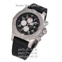 Breitling Chronomat Avenger II Steel Back Rubber Black/Silver/Black-White