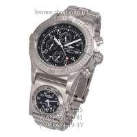 Breitling Chronomat Avenger Titanium Chronograph UTC Silver/Black