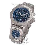 Breitling Chronomat Avenger Titanium Chronograph UTC Silver/Blue