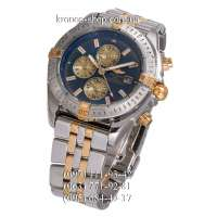 Breitling Chronomat Chronograph Silver-Gold/Silver/Blue-Gold