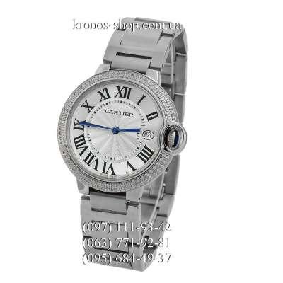 Cartier Ballon Bleu de Cartier Crystals Date Silver/White