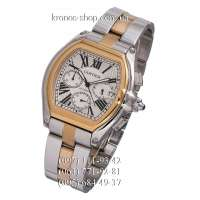 Cartier Roadster Chronograph Silver-Gold/White