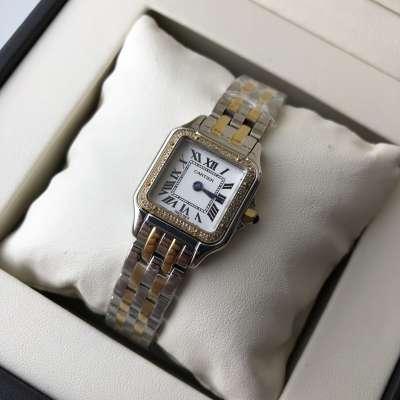 Cartier Panthere de Cartier Small Diamond Silver/Gold/White