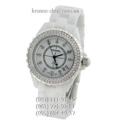 Chanel J12 Ceramic Swarowski White