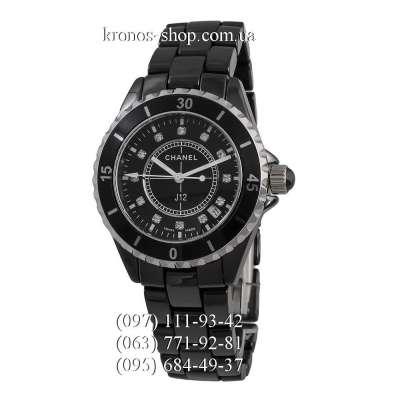 Chanel J12 Ceramic Diamonds Black