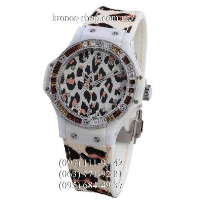 Hublot Big Bang Snow Leopard Diamonds