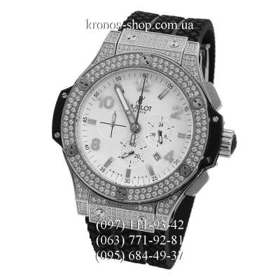 Hublot Big Bang Chronograph Steel Diamonds Black/Silver/White