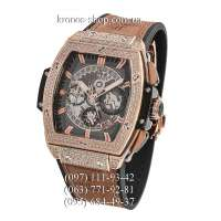Hublot Spirit of Big Bang King Gold Pave Brown/Gold/Black