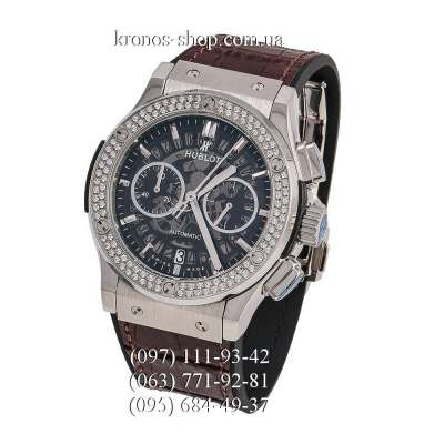 Hublot Classic Fusion Aerofusion Chronograph Diamonds Brown/Silver/White