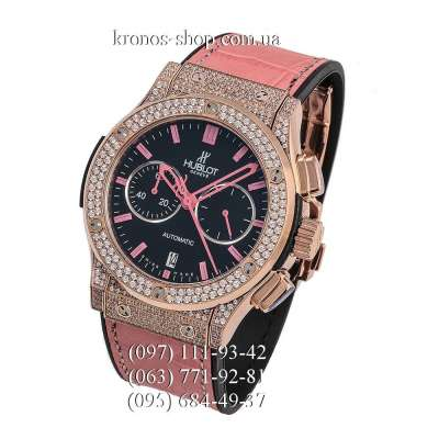 Hublot Classic Fusion Chronograph Pave Pink/Gold/Black-Pink