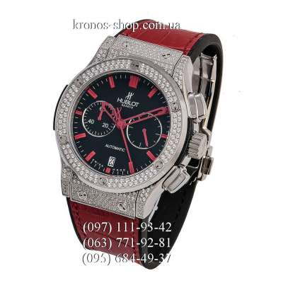 Hublot Classic Fusion Chronograph Pave Red/Silver/Black-Red