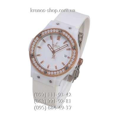 Hublot Classic Fusion Ceramica Diamonds White/Gold-White/White