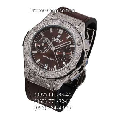 Hublot Classic Fusion Chronograph Pave Brown/Silver/Brown