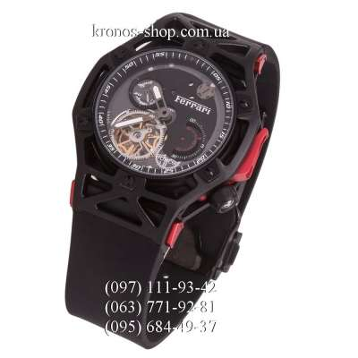 Hublot Techframe Ferrari Tourbillon Chronograph All Black-Red