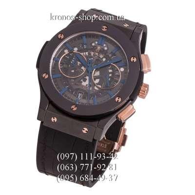 Hublot Classic Fusion Aerofusion Chronograph Ceramic All Black/Gold/Blue