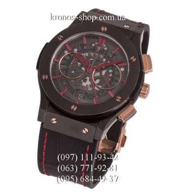 Hublot Classic Fusion Aerofusion Chronograph Ceramic All Black/Gold/Red